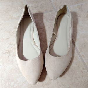 Tan Faux Suede Ballerina by Charlotte Russe